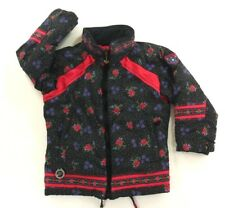 Obermeyer Girls Black Winter Jacket Pink Floral Print I-Grow System Preschool 6