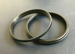 2 pcs Step Spacer Tube Filter Extension Ring Adapter 55mm 58mm 67mm 77mm