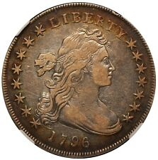 1796 U.S. Draped Bust Small Date Large Let $1 One Dollar Silver Coin - NGC XF 40