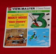 "vintage MICKEY MOUSE in ""Clock Cleaners"" VIEW-MASTER REELS packet with booklet"