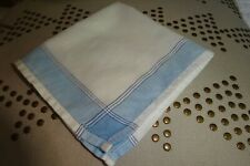Retro Father'S Day Vintage Gent's Hankie from England White w Blue Band 10""