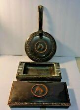 New listing Vintage 3 piece Hyde Park Horse Head Bronze Copper Metal - Ashtray Butler Case