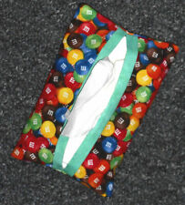 Tissue Packet M&M's Candy Pocket Holder Fabric Cover Handmade