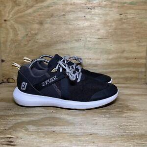 FootJoy Flex Golf Shoes Men's Size 9.5 M Black 56103 Spikeless FJ