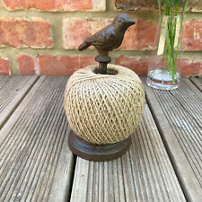 Vintage Garden Dove Bird Ball Of String Twine On A Cast Iron Holder Stand Gift