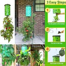 Green Tomato Herb Upside Down Garden Patio Pot Hanging Planter System 23x40cm