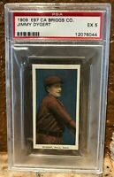 1909 E97 C A Briggs Lozenge Jimmy Dygert PSA 5 Near Perfect Centering Pop 2/2^