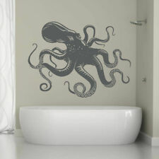 ik1200 Wall Decal Sticker octopus marine animals bathroom