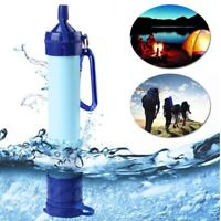 99.99% Purifier Water Filter Emergency Gear Straw Camping Hiking Life Survival