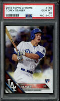 2016 Topps Chrome Corey Seager RC Card #150 PSA 10 Gem Mint Rookie 48019401