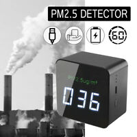 Multifunctional Portable Laser PM2.5 Detector Digital Air Quality Monitor Home