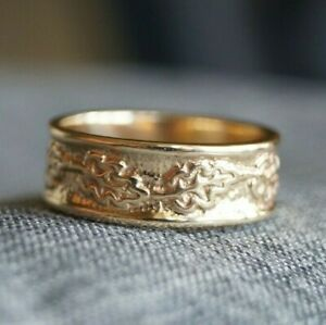 *Retired & UNIQUE* James Avery TEXTURED VINES Band Ring 14k Gold Size 7.75