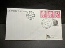 SS PRESIDENT JEFFERSON Naval Cover 1974 PAQUEBOT BALBOA, CANAL ZONE