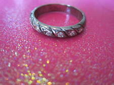 Crystal Ring Band Size  7 .5