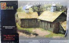 1/72 Scale Pegasus Hobbies 'Russian Farm Houses' 2 Buildings Kit #7702
