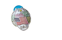 BOY SCOUTS OF AMERICA BSA EAGLE MOUNTAIN TREES HIKING STAFF STICK MEDALLION NEW