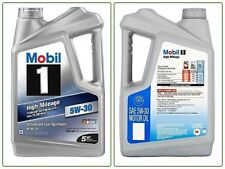 Full Synthetic Motor Oil Mobil 1 5W-30 High Mileage Engine Sae Part Change 5 qt.