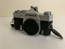 Vintage KONICA Autoreflex T Film CAMERA Made In JAPAN Body Only W/ Lens Cap