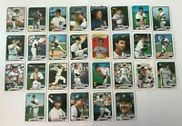 1989 DETROIT TIGERS Topps COMPLETE Baseball Team SET 29 Cards WHITAKER TRAMMELL!