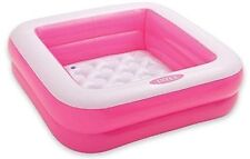 Intex Square Inflatable Baby Pool Pink play box water yard sandbox