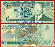 ISLAS FIJI FIDJI 2 Dolares Commemorative Millenium Pick 102  SC /  UNC