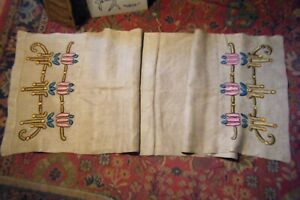 """ANT. ARTS & CRAFTS LINEN EMBRIODERED 72"""" TABLE RUNNER"""