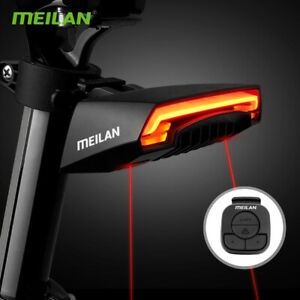 CYCLE BIKE INDICATOR Rear LASER Light WIRELESS REMOTE Turn Signals MEILAN X5