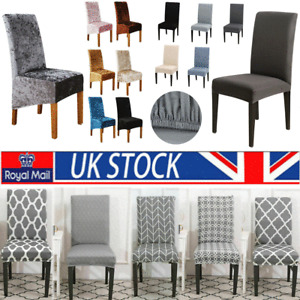 Velet Chair Seat Cover Stretch Dining Chair Covers Slipcover Wedding Seat Cover