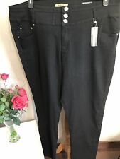 Bnwt Simply Be Black Jeans High Waisted Slim Leg Plus Size 30 Long Stretchy