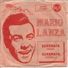 MARIO LANZA-SERENATA DRIGO + SERENATA TOSELLI SINGLE VINILO SPAIN