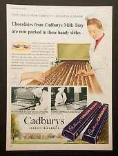 CADBURY'S Milk Tray / Caramel / Turkish Delight - Vintage Magazine Advert 1954 *