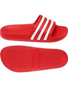 Adidas Adilette Aqua Red Slides UK 9 BNWT