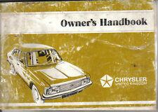 Chrysler Talbot Avenger 1300 & 1600 1978-81 Original Handbook Pub. I.B. 559/2
