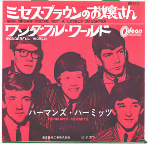 HERMAN'S HERMITS - MRS BROWN YOU'VE GOT A LOVELY DAUGHTER - VERY RARE JAPAN 45PS