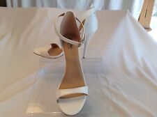 Mossimo ladies ivory synthetic open toe heels in size 8.5 medium