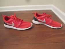 Used Worn Size 12 Nike Roshe Run Hyperfuse Shoes Red Crimson Platinum Black