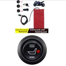 Motorcycle Carbon Fiber Seat Heating Pad Heater ON/ Off Switch Waterproof 12V
