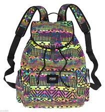 Victoria's Secret PINK Neon Multicolor Aztec Print School Beach Backpack Bookbag
