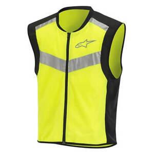 Alpinestars Motorcycle Flare Neon Vest Black & Yellow Fluo - 6509019155S
