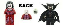 LEGO Minifig Vampire & Bride with Glow in the Dark Heads NEW Dracula Halloween