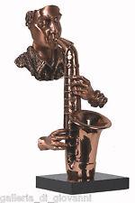Saxophone Player Jazz Musician  Copper Statue Music Sax