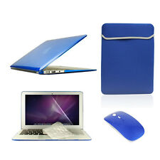 "5 in1 Crystal ROYAL BLUE Case for Macbook Air 11""+Key Cover+LCD Screen+Bag+Mouse"