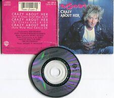Rod Stewart  CD-Single ( 3 INCH)   CRAZY ABOUT HER © 1988 WARNER