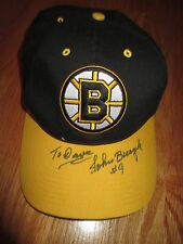 "Vintage Twins Enterprises JOHN BUCYK signed BOSTON BRUINS (Snap Back) Cap ""Dave"""