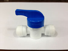 """1/4"""" Shut Off Valve Push Fit Coupling for RO Water Filter Tap Tube with Locking"""