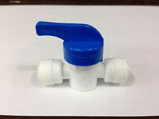 1/4 de pulgadas cierre válvula Push Fit de acoplamiento para Ro Filtro De Agua grifo del tubo con cierre