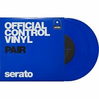 Serato Performance 7 DJ DVS Scratch Live Turntable Control Vinyl Pair, Blue
