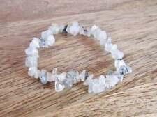 Rock Beads Reiki Natural Gemstone Tourmalated Quartz Stone Bracelet Healing Raw
