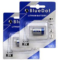 Brand New 2Pcs CR2 BlueDot Trading Lithium Battery 750mAh ~ FREE SHIP from USA