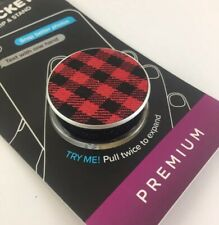 "Premium Phone Holder ""Classic Checkered Red"" Popsockets Phone Grip & Stand"